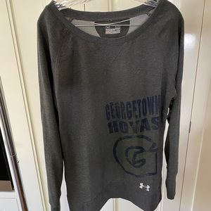 Georgetown off the shoulder sweatshirt